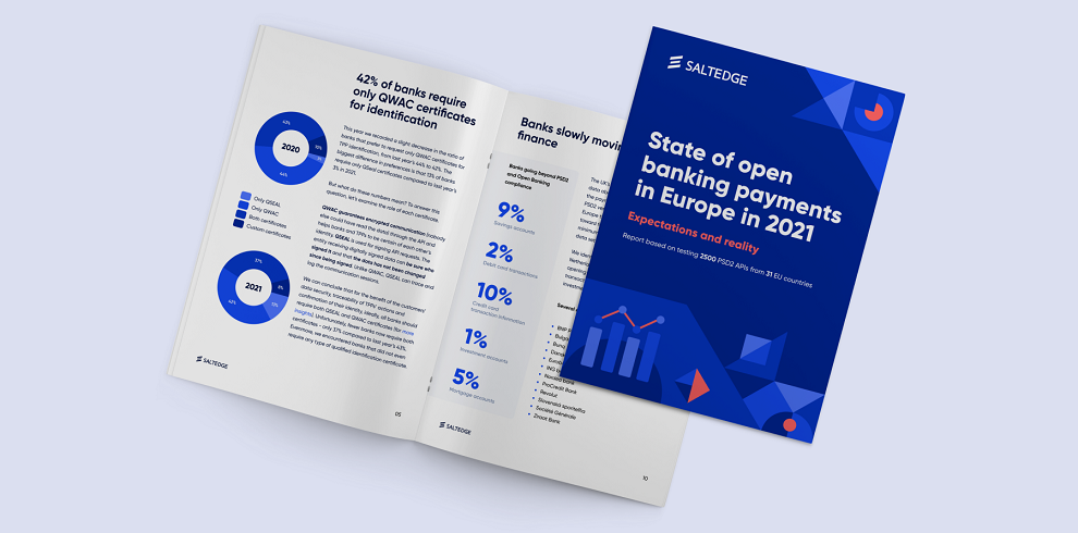 Nocashevents Salt Edge report: State of open banking payments in Europe in 2021. The report will be discussed at international fintech conference Banking 4.0.